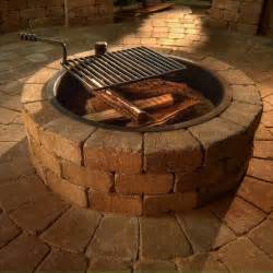 Necessories compact fire ring with grate fire pits at hayneedle