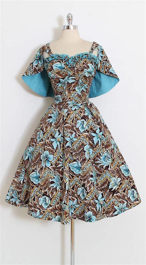 Dress Cotton Si 1188 vintage 50s dress 1950s dress with capelette deweese designs xs s m 5801 1950s dresses