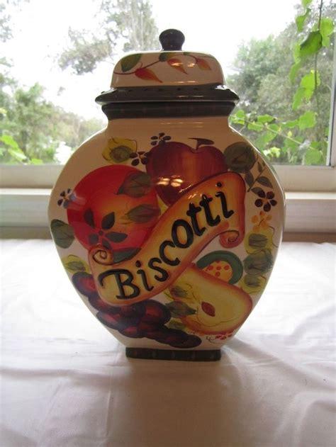 nonnis biscotti jar tuscan fruit ginger jar cookie