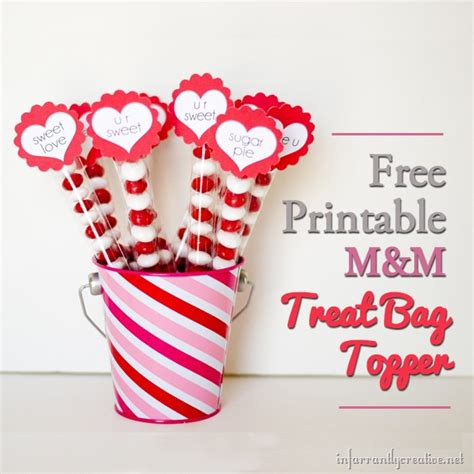 m s valentines free printable valentine s day m m treat bag toppers