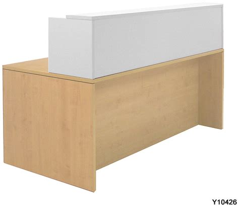 Maple Reception Desk White Two Tone Reception Desks In Stock Free Shipping