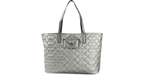 Marc Large Shiny Plastic Tote by Marc By Marc Metropolitote Quilted Metallic Tote