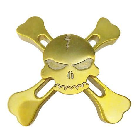 Fidget Spinner Metal Box edc skull crossbones metal spinner fidget