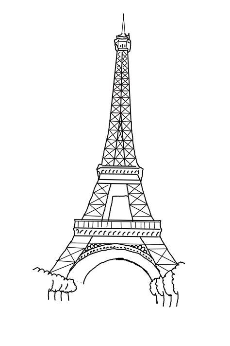 paris eiffel tower coloring pages   print