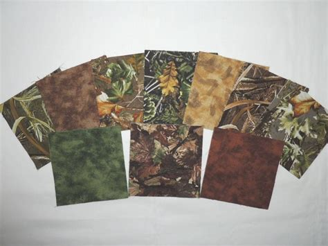woodland camo charm pack quilting fabric 40 5 quot squares