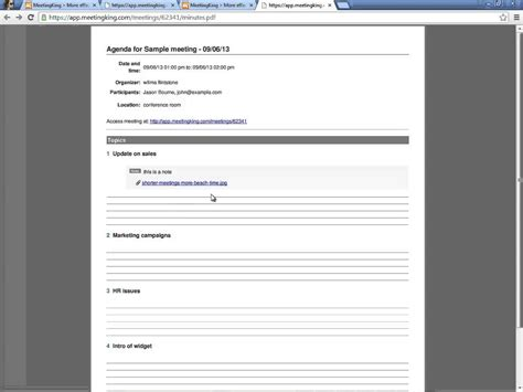 meeting note taking template 5 best agenda templates