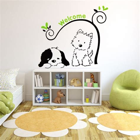 welcome wall stickers cat welcome wall stickers removable wall decal