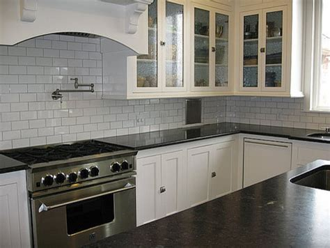 white kitchen subway tile white kitchen subway tile soapstone counters