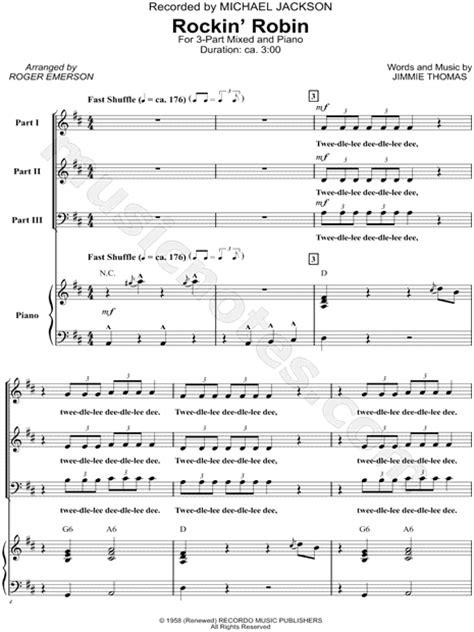 printable lyrics to rockin robin michael jackson quot rockin robin quot arr roger emerson 3