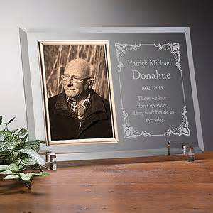 personalized memorial glass picture frame walking beside me