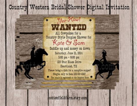 free western invitation templates 30 western wedding invitation templates free sle