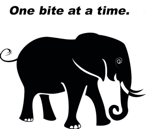 one bite at a time everyday meal plans for fighting cancer disease ibs obesity and other ailments books how do you eat an elephant quotes quotes
