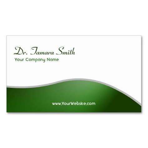green and white medical business card template this