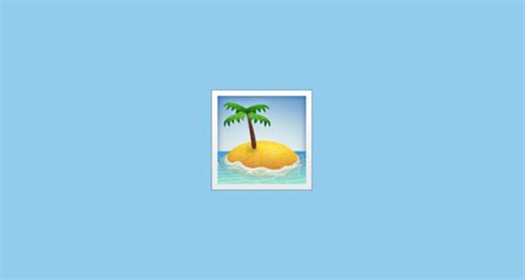 island emoji desert island emoji on apple ios 9 1