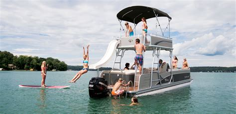 luxury inboard pontoon boats pontoon boats luxury fishing and compact models