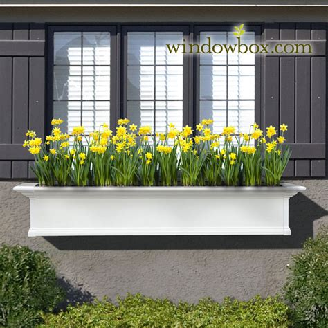Planters Window Boxes by Provincial Window Kit White Self Watering Window