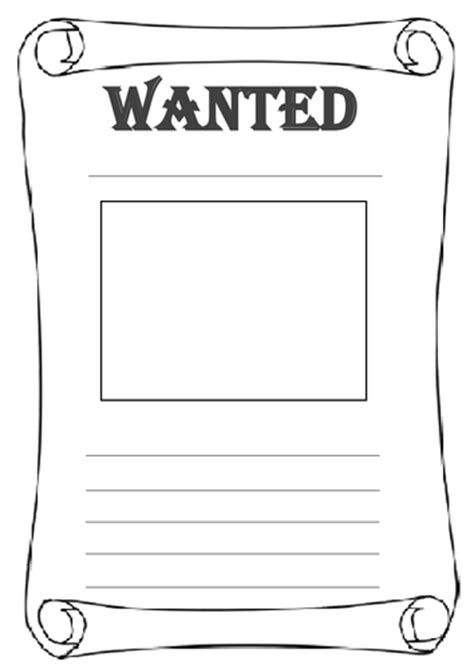 black and white wanted poster template differentiated wanted poster worksheets by