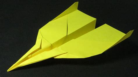 How To Make A Far Flying Paper Airplane - how to make a paper airplane jet that flies far diy