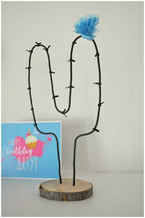 diy home decor diy wire cactus by arty s getaway