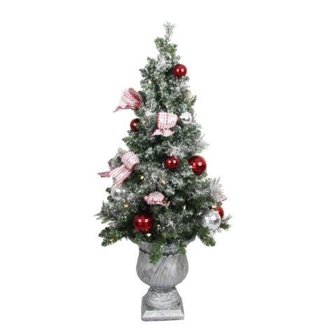 home accents holiday 4 ft battery operated frosted
