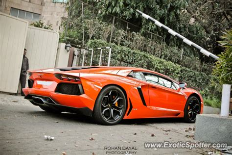Lamborghini Owners In Delhi Lamborghini Aventador Spotted In New Delhi India On 03 25