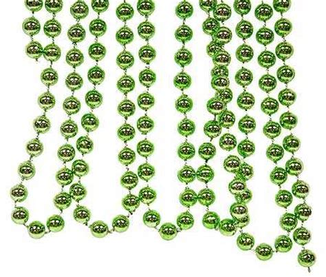 8mm metallic lime green bead garland 9 foot pearl