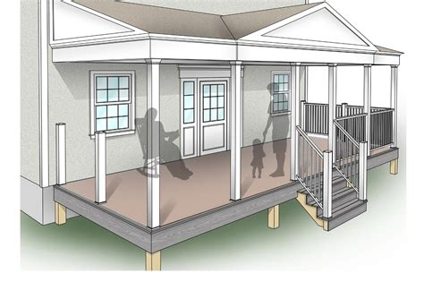 front porch plans free porch design plans inteplast building products
