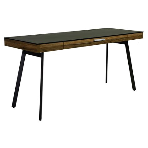 Modern Black Desk Modern Desks Hillard Black Desk Eurway Furniture