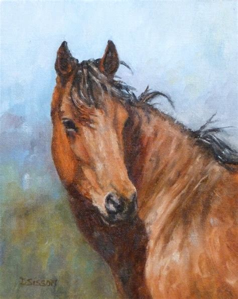 painting horses daily painting projects bay mare painting
