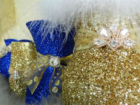 gold  royal blue decorations baby shower
