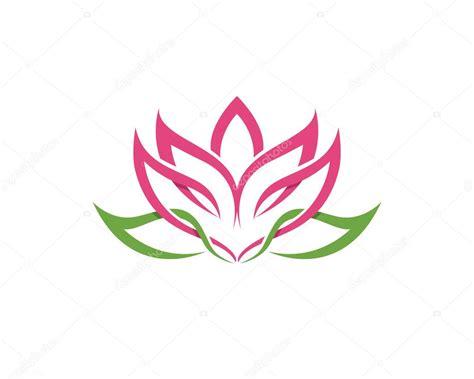 fiore loto stilizzato fiore di loto stilizzato icona sfondo vettoriale