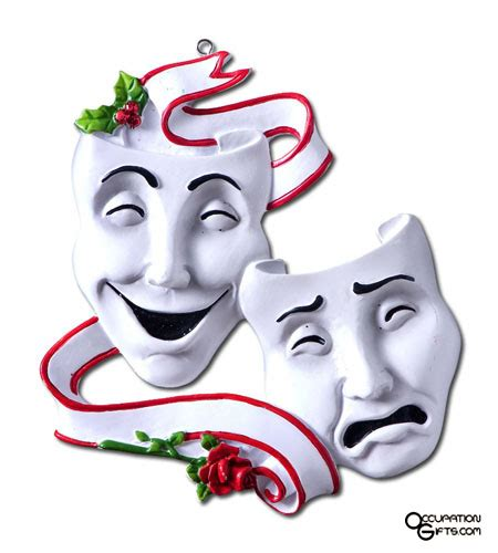 drama masks ornament actor gifts pinterest drama