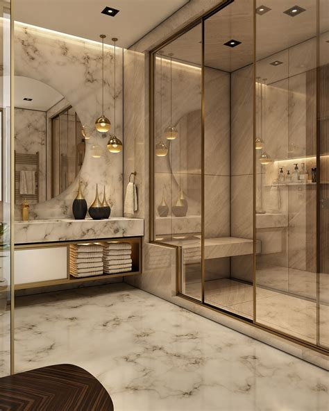 Modern Home Bathroom Design by Luxurious Bathroom On Behance Home In 2019 Home Decor