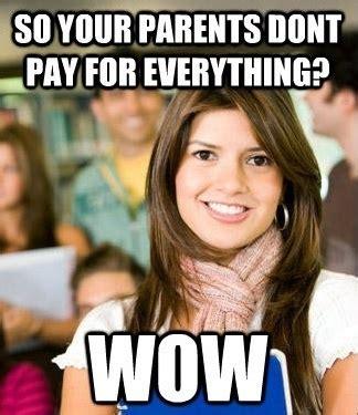 Sheltered College Freshman Meme - sheltered college freshman meme the pbh network