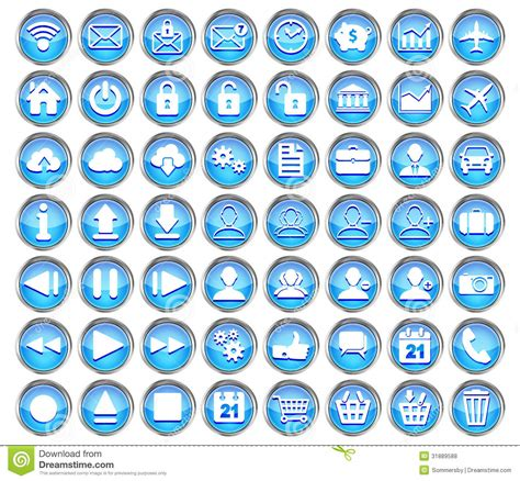 Software Architecture Design Online set of blue web multimedia and business icons royalty