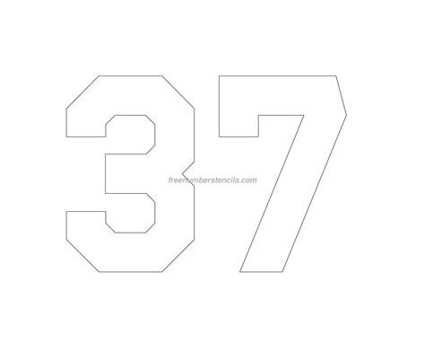 printable jersey numbers free jersey printable 37 number stencil