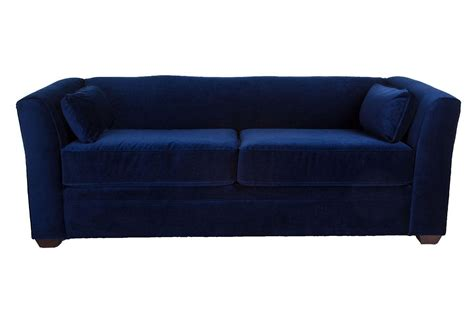 dita 84 quot tuxedo sofa navy velvet sofas from one