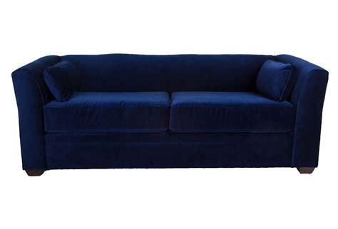 velvet navy sofa dita 84 quot tuxedo sofa navy velvet sofas from one