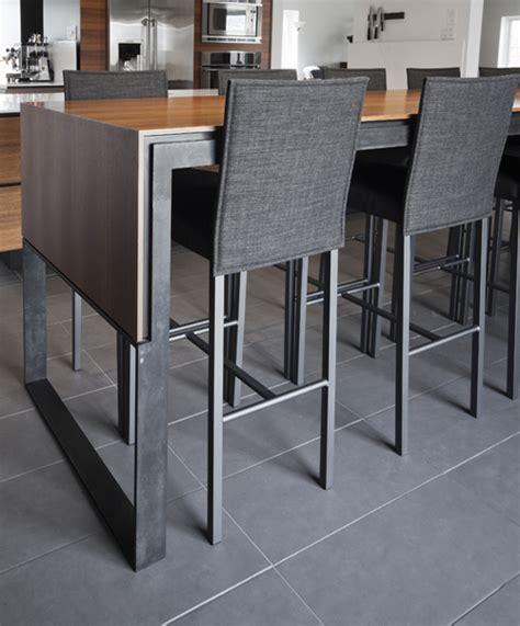 table haute pour cuisine table haute cuisine design table de lit