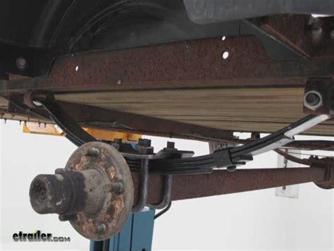 trailer slipper springs 4 leaf slipper for 2 000 lb trailer axles redline