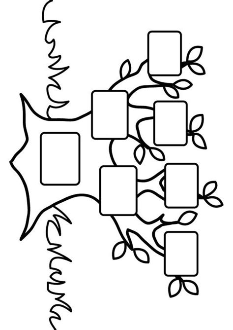 coloring page empty family tree coloring picture empty