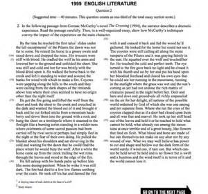 Ap Literature Essay Question 3 by Hayden Robel S Ap Lit Comp