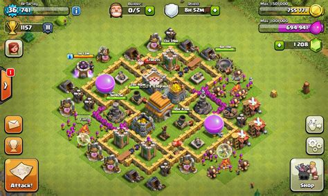 layout coc th6 hybrid the gallery for gt th6 hybrid base