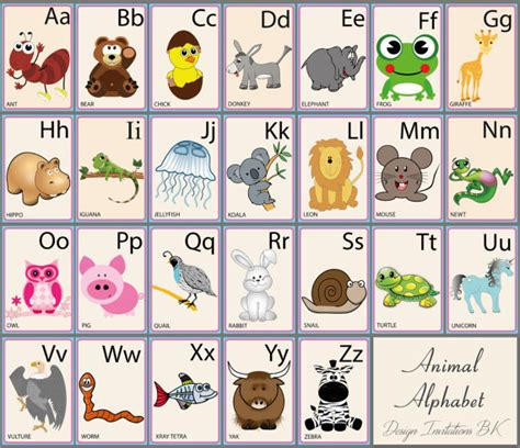printable alphabet flash cards with animals animal alphabet flash cards cartoon by designinvitationsbk