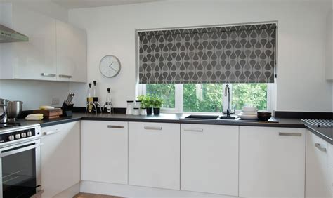 grey patterned blinds silver grey contemporary geometric patterned kitchen