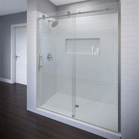 Shower Doors At Menards Roda By Basco Vinesse Rolling Door And Fixed Panel Shower Enclosure At Menards 174