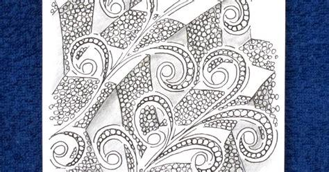 jonqal zentangle pattern sue s tangle trips weekly challenge 41 duotangle v ii