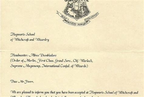 Personalized Hogwarts Acceptance Letter Australia Create A Personalized Hogwarts Acceptance Letter For You Fiverr