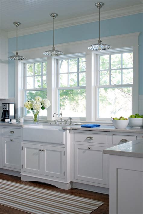 Kitchen Sink Windows Three Windows Kitchen Sink Design Ideas