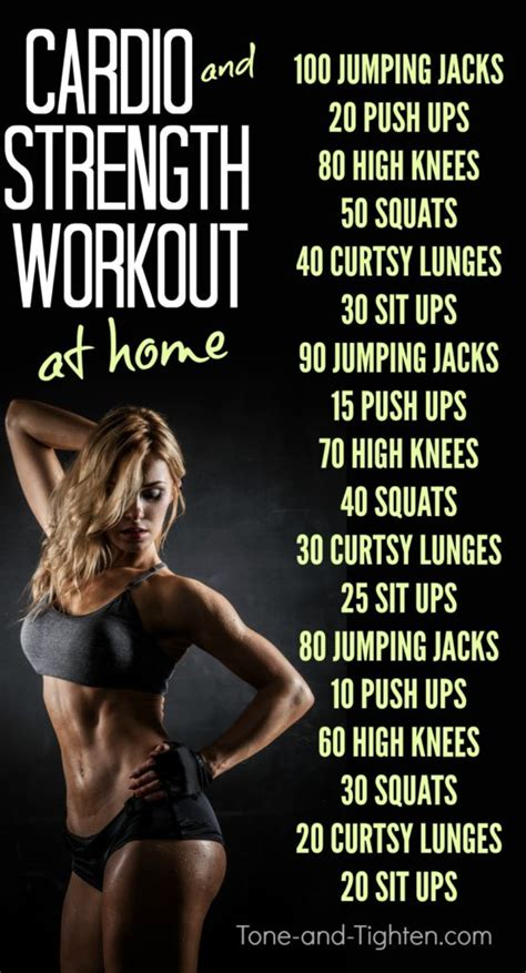 cardio and strength workout tone and tighten